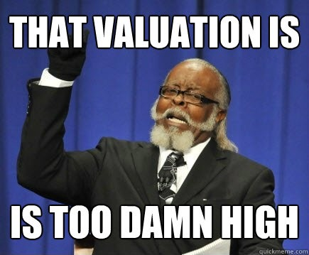 SIFA #2: The valuation is too damn high